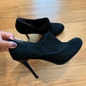 Cole Hann Nike Air Talia Black Suede Ankle Boot